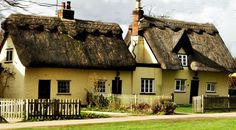 Thatched cottages in Cambridgeshire