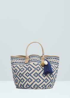 Jacquard jute bag - Bags for Women Jute Handbags, Custom Leather Belts, Mochila Crochet, Free Crochet Bag, Tassel Purse, Ethnic Bag, Diy Tote Bag, Boho Bags, Jute Bags