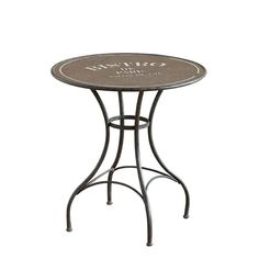 Vintage style metal French Bistro table with Bistro de Paris logo emblazoned across table top.  We love the urban chic look of this piece which will look uber cool in modern interiors or more classical environments.