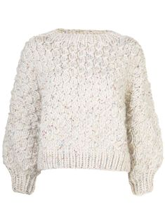 I Love Mr Mittens chunky knit square neck sweater - White I Love Mr Mittens, World Of Fashion, Chunky Knits, Women Wear, Wool, Clothes For Women, Knitting, Sleeves, Sweaters