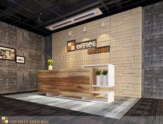 Thiết kế quầy lễ tân cho văn phòng làm việc
