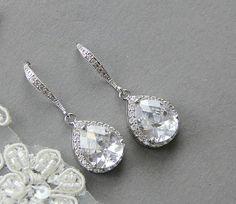 Wedding earrings rhinestones earrings wedding by LavenderByJurgita, $48.00