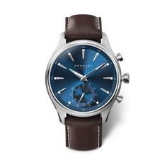 Kronaby Watch Sekel Smartwatch Watch available to buy online from with free UK delivery. Cool Watches, Watches For Men, Gps Watches, Bluetooth, Swiss Army Watches, Bracelet Cuir, Watch Model, Vintage Watches, Crystals