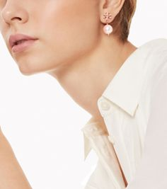 Tory Burch Crystal-pearl Drop Earring
