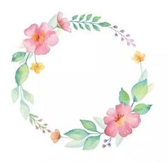 - The post appeared first on Bestes Soziales Teilen. Watercolor Cards, Watercolor Flowers, Watercolor Paintings, Floral Wreath Watercolor, Watercolor Border, Frame Floral, Flower Frame, Corona Floral, Deco Floral