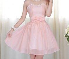 Lace Bow Chiffon Dress