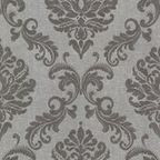 Bradford (Kt) Fabric Damask Wallpaper - Traditional - Wallpaper - by Brewster Home Fashions