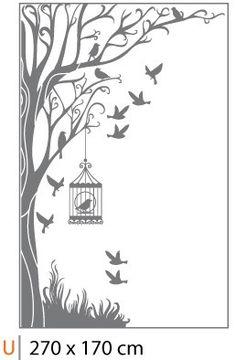 Cartela Adesivo de parede Árvore Encantada