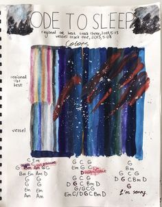 Ode to Sleep as told by someone with synesthesia, or seeing sounds as colours.
