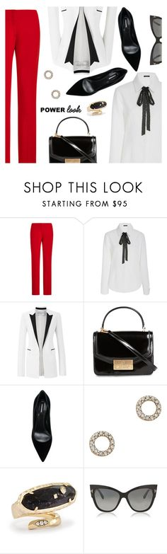 """""""Power Look"""" by dressedbyrose ❤ liked on Polyvore featuring Ralph Lauren, Mi Jong Lee, Amanda Wakeley, Tory Burch, Dsquared2, Mateo, Kendra Scott, Tom Ford, WorkWear and ootd"""