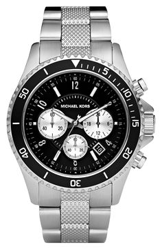 michael kors quartz silver dial men s watch mk5535 watches men watches michael kors chronograph bracelet watch