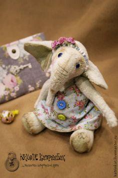 Слоник Мятка - слоник тедди,слоник,игрушка ручной работы,тедди слоник