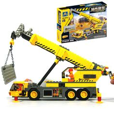 2016 New Hot 8045 Kazi Blocks 380pcs/lot Crane Model Building Toy Compatible Legoe City Technic #clothing,#shoes,#jewelry,#women,#men,#hats,#watches,#belts,#fashion,#style