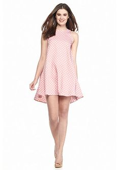 Sweeten your everyday look with this stylish light pink polka dot printed dress! Snazzy and vibrant, this piece is sure to become your favorite piece.
