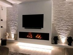 TV wall with fireplace / # TV wall # fireplace - Tv Wa . TV wall with fireplace / # TV wall – Tv wall ideas Fernsehwand mit Kamin / – Tv Wa… 2551 Source by fireinplace Fireplace Tv Wall, Fireplace Design, Linear Fireplace, Fireplace Ideas, Wall Fireplaces, Mosaic Fireplace, Natural Gas Fireplace, Ethanol Fireplace, Modern Fireplaces