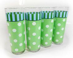 Green Polka Dot Glasses Glassware Set Barware Gail Pittman Southern Living. $16/set of 4 on etsy. May 25, 2014