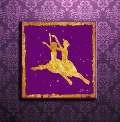 Ballerina Silhouettes Gold leaf Silhouettes Mauve