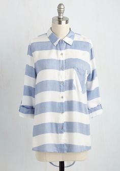 Cape Cod Cruising Tunic. Hop on your ten-speed and take this striped tunic for a ride! #blue #modcloth