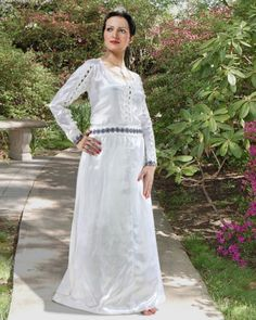 Princess Of Pearl Dress, on sale $99 The splendor and beauty of medieval era has never been more apparent than in this stunning and versatile dress. The shimmering satin material, elegant blue and gold trim & white high quality pearl used in place of button give it a royal look.