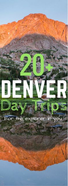The city is an amazing place to vacation, but getting away from the hustle and bustle for the day is essential! Here is a list of great Denver Day trips to see all that Colorado has to offer! Denver Colorado Hiking, Colorado Vacations, Fort Carson Colorado, Skiing Colorado, Red Rocks Colorado, Winter Park Colorado, Boulder Colorado, Visit Colorado, Denver Vacation