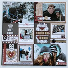 Project Life Teresa Collins- Hello My Name Is Scrapbook Layout