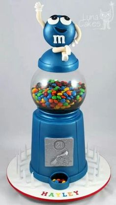 Candy Dispenser Cake ~ cute!