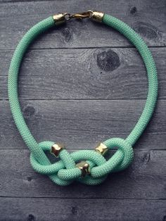 Mint Rope Necklace / Statement Necklace / Summer by Candybarrr, €16.00