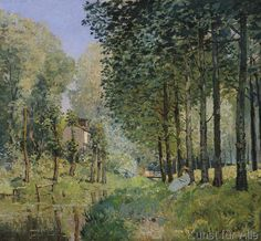 Alfred Sisley - The Rest by the Stream. Edge of the Wood, 1872