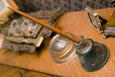 I adore antique pens and inkwells and other antique writing implements and other desk things
