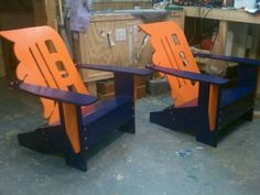 Detroit Tigers Adirondack chair