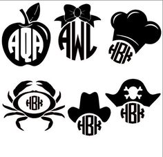 cute monograms-like the pirate hat Cricut Monogram, Monogram Decal, Monogram Design, Monogram Fonts, Cricut Vinyl, Silhouette Vinyl, Silhouette Portrait, Silhouette Machine, Silhouette Cameo Projects