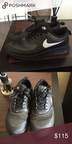 Black Nike Thea good as new. only worn twice. 10/10 condition. Nike Shoes Sneakers