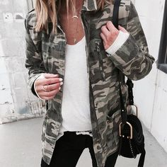 This look on cellajane.com today. Camo jacket has a flattering cinched detail and a must-have in my opinion. http://liketk.it/2qtTd  @liketoknow.it #liketkit #ltkstyletip
