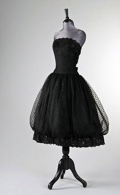 Givenchy point d'esprit ball gown, 1956. Provenance: Audrey Hepburn.