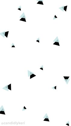 Blue and black triangle geometric fun cute wallpaper you can download for free on the blog! For any device; mobile, desktop, iphone, android!