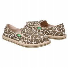 Sanuk Women's I'm Game Slip Ons. I love the giraffe print!!