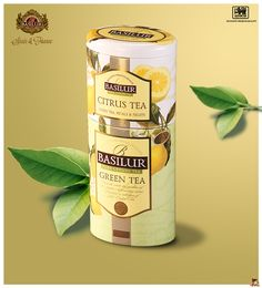 BASILUR TEA SPAIN&FRANCE. Fruits&Flowers Collection: CITRUS TEA-GREEN TEA.