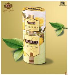 BASILUR TEA SPAIN&FRANCE. Fruits&Flowers Collection: CITRUS TEA-GREEN TEA.