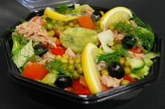 Spring salad with tuna