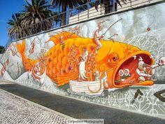 carpe diem to me: # Street Art! Dream Art, Street Art Graffiti, Carpe Diem, Bird Art, Portugal, Wall, Inspiration, In Living Color, Art