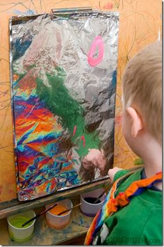painting on foil --and other ideas on using easel