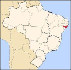 Alagoas ( em vermelho )- Brasil