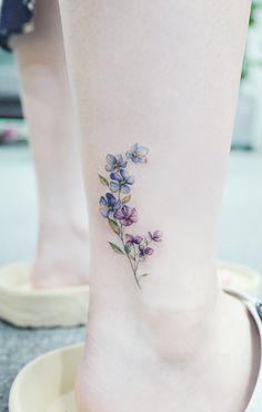 25 Cute Tiny Floral Ankle Tattoo Ideas Mini Tattoos On Ankle; Mini Tattoos, Girly Tattoos, Pretty Tattoos, Disney Tattoos, Beautiful Tattoos, New Tattoos, Body Art Tattoos, Small Tattoos, Awesome Tattoos