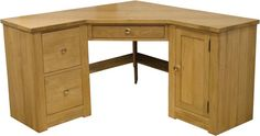 corner Desk | Knightsbridge Oak Large Corner Computer Desk | Knightsbridge Oak ...