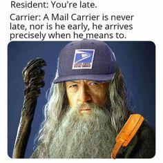 Funny As Hell, Funny Stuff, Random Stuff, My Sharona, Job Memes, Us Postal Service, Going Postal, Retirement Parties