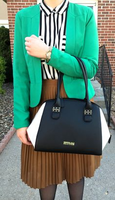 Kelly Green and Color-Blocking? | She's Intentional Blog