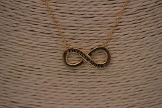 Sterling Silver Infinity Necklace It is Gold plated, 15 inches plus 2 inch extension! Infinity Necklace, 18k Gold, Chokers, Gold Necklace, Jewels, Sterling Silver, Gemstones, Jewerly, Jewlery