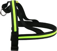 LED Flashing Harness from Animate Pet Products Available in 4 sizes - 40cm, 60cm, 70cm, 80cm and 3 Colours - Hi Viz Yellow,Orange and Green!