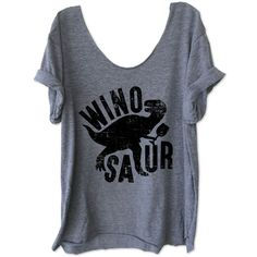 Winosaur Off-Shoulder Swanky Tee Raw Neckline One Size Workout Shirt Workout Top Fitness Tee Funny Shirt