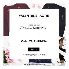 YAY!!! En natuurlijk hebben we voor jou een mooie actie! Especially for you valentines ❤️ . H A P P Y  V A L E N T I N E S D A Y . Go Go Go